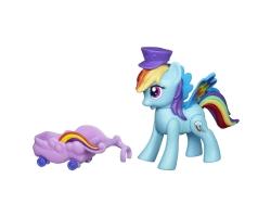 My Little Pony, figurina ponei Zoom'n Go cu accesorii - Rainbow Dash